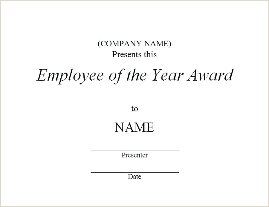 Certificate Best Employee Achievement Award The Year