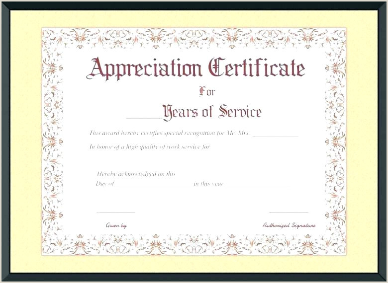Military Certificate Special Recognition Award Template Free