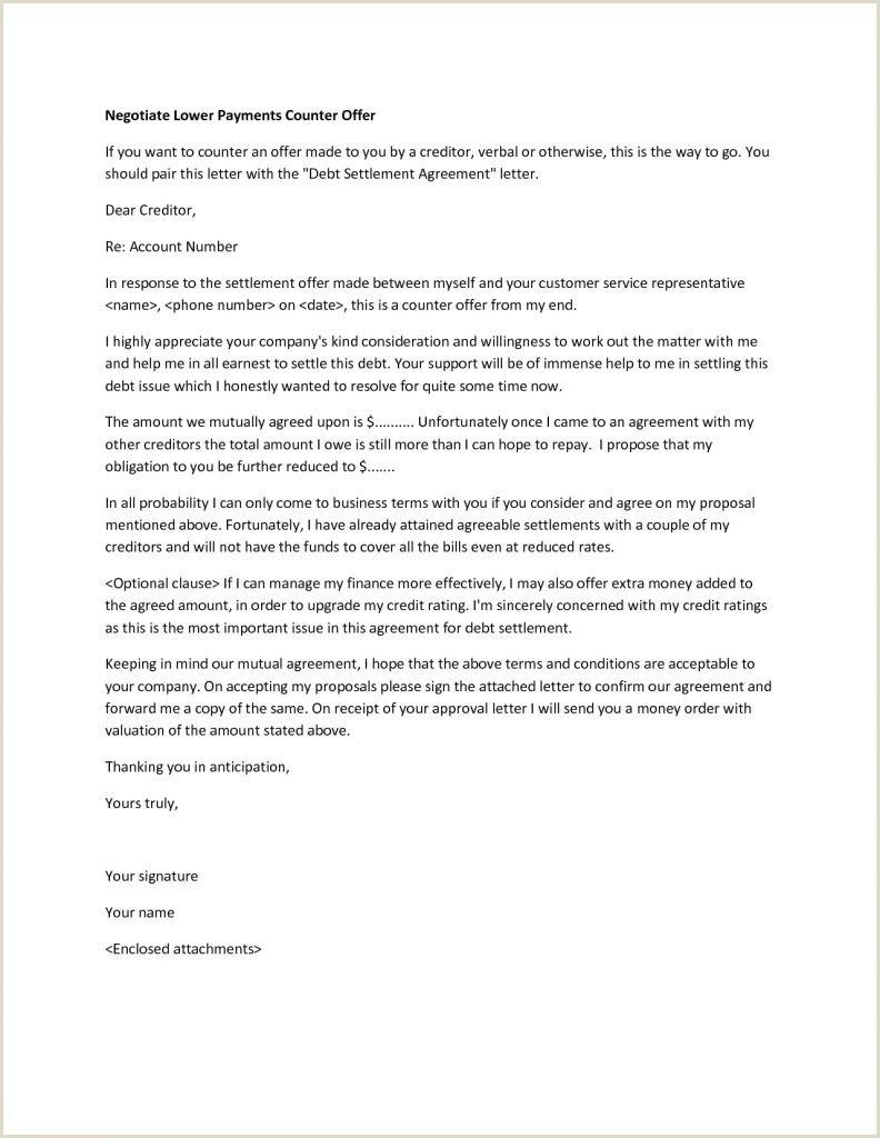 Settlement Offer Letter Template Settlement Fer Letter Template Examples