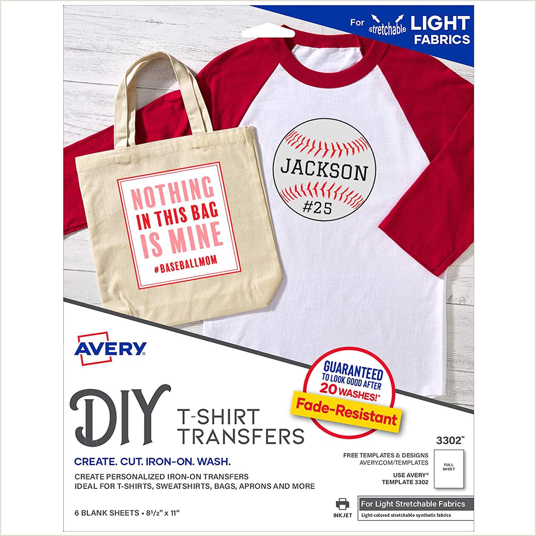 Avery InkJet Stretchable Transfer Sheets 5 Pack