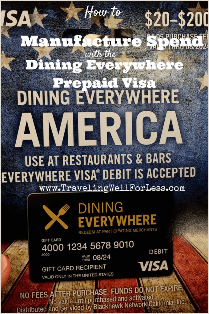 Review Dining Everywhere Prepaid Visa Card