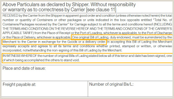 Shipped on Board Date and Bill of Lading date