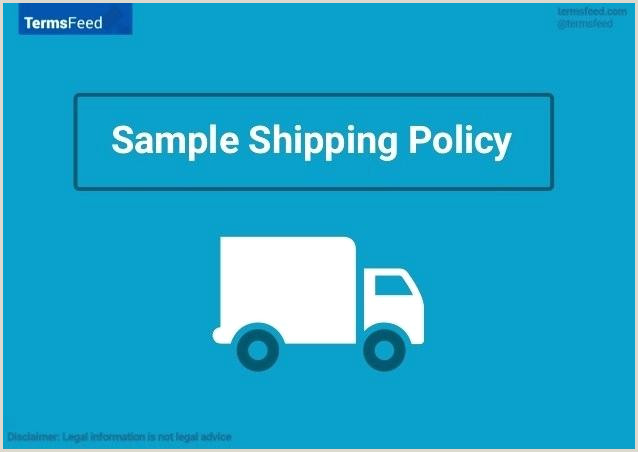 Sample Shipping Policy Template Delivery