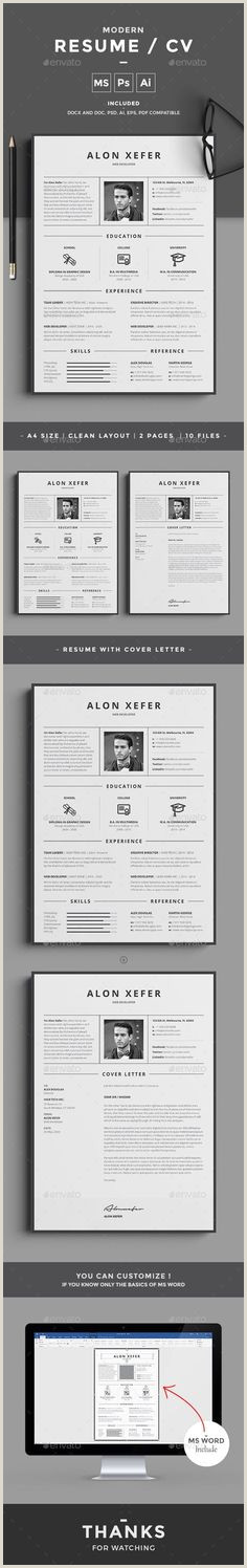 Short and Sweet Cover Letter 158 Meilleures Images Du Tableau Cv Design En 2019