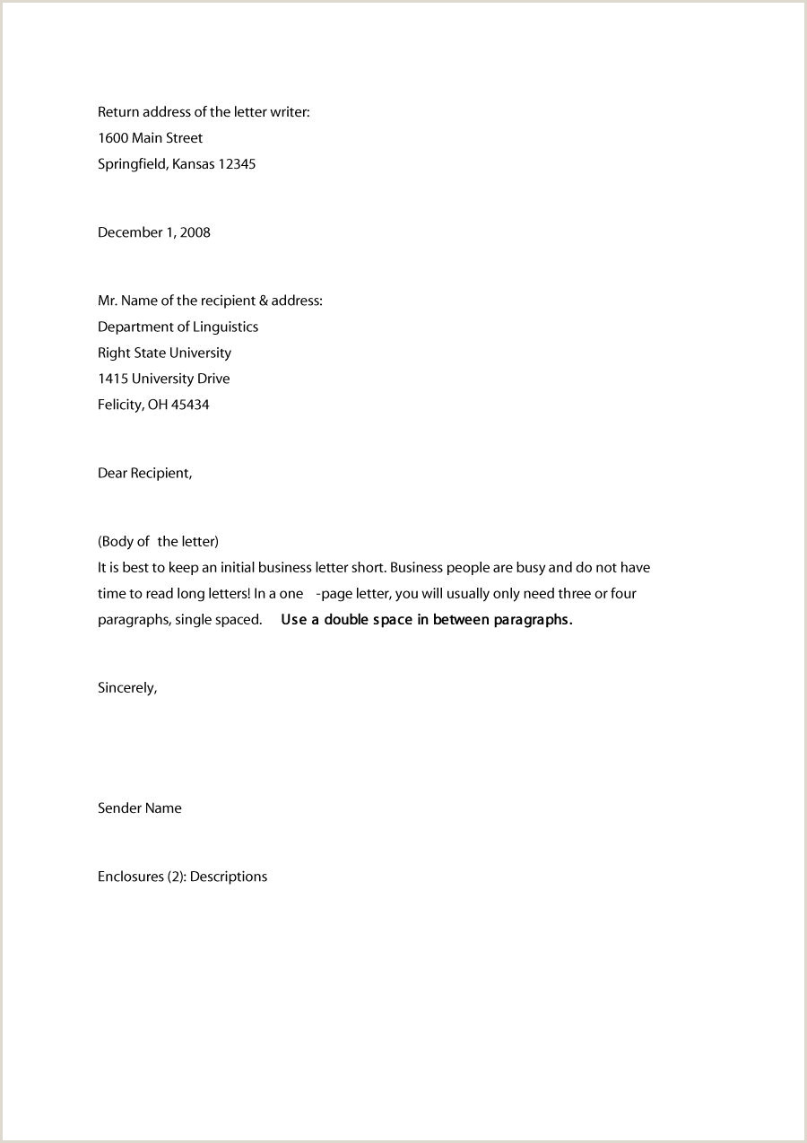 35 Formal Business Letter Format Templates & Examples