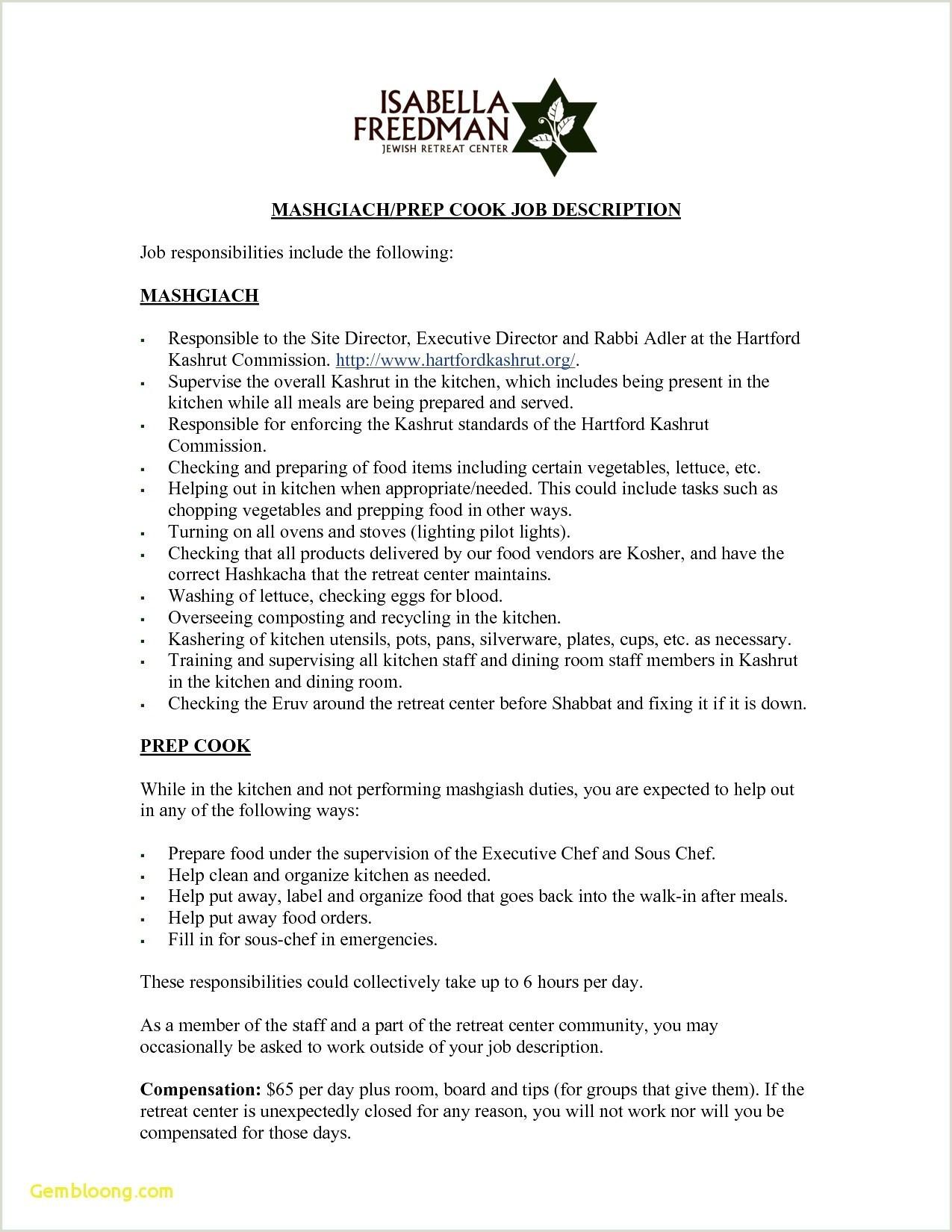 Should I Put Fast Food On My Resume 25 Free Server Job Descriptions for Resumes