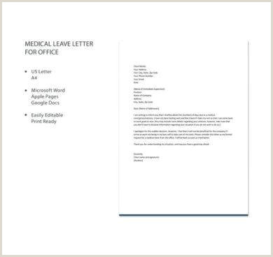 11 ficial Medical Leave Letter Examples PDF