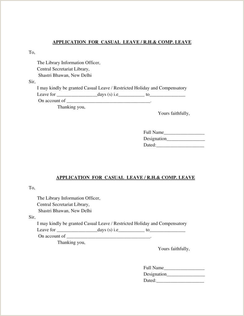 22 Leave letter Format Templates PDF