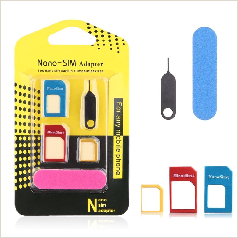 Sim Card Adapter Template 5 In 1 Nano Sim Card Adapters Regular Micro Sim Standard Sim Card tools with Colorful for iPhone 4 4s 5 5c 5s 6 6s with Retail Box
