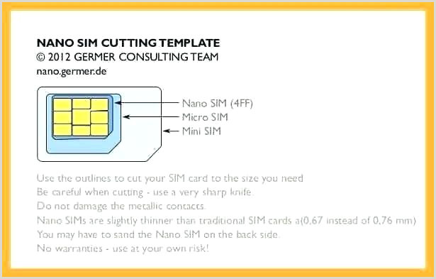 Micro Sim Template Card Cutting Guide Intended For Letter