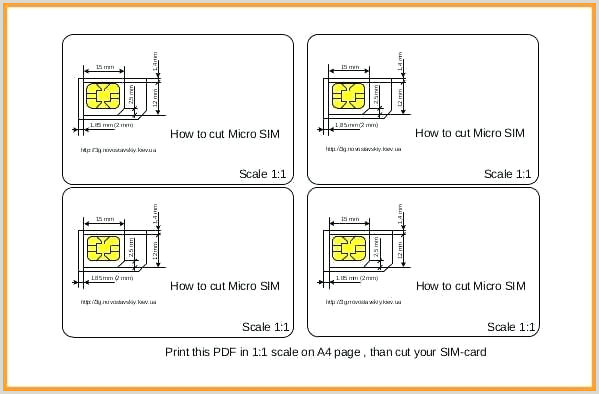Sim Card Template Pdf Micro Sim Template Print – Laroute