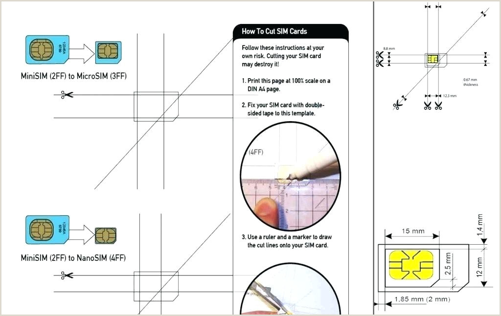 sim card cutting template