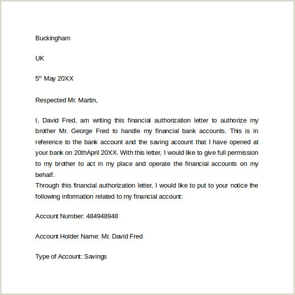 Simple Authorization Letter Sample 10 Bank Authorization Letter Pdf Word