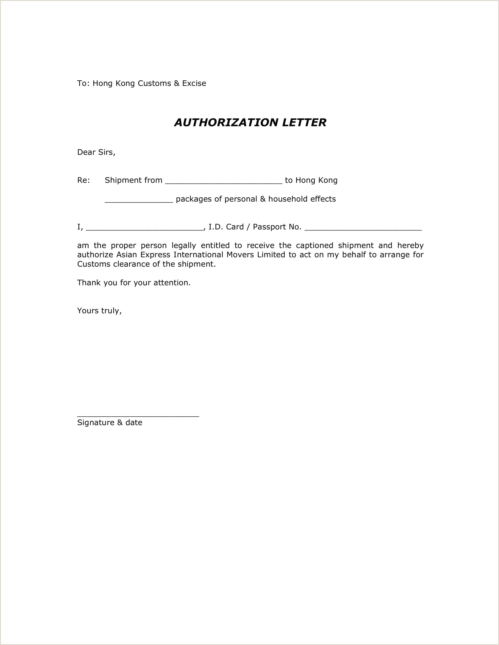 9 Authorization Letter to Claim Examples