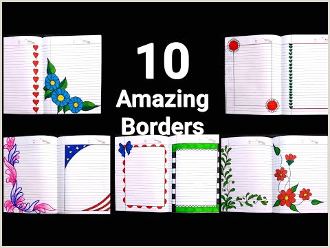 Simple Border Designs for School Projects to Draw Videos Matching 4 In 1 Simple Border Design for Project