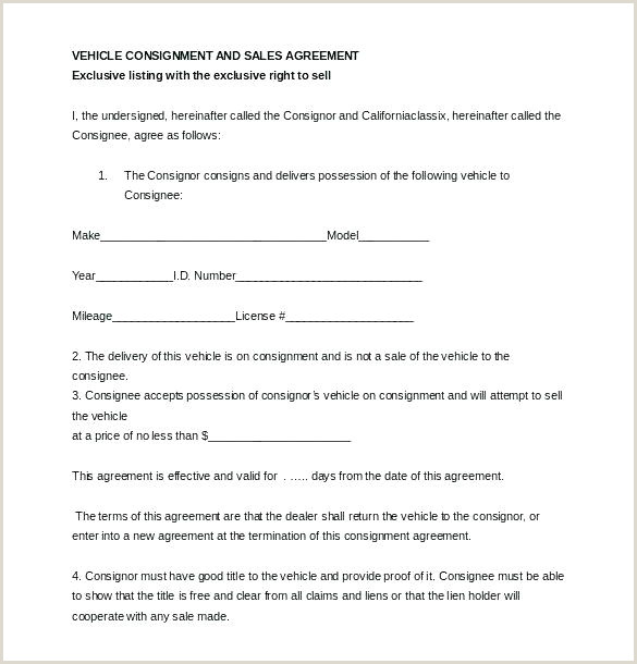 Simple Consignment Agreement Consignment Contracts ate Product Agreement Stock Contract