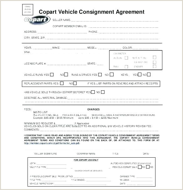 Simple Consignment Agreement Consignment Stock Agreement Template