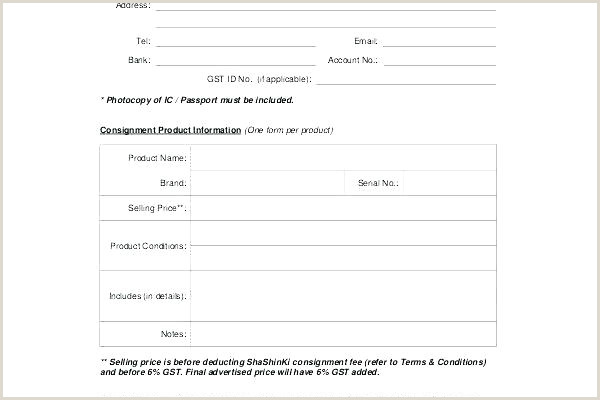 Free Consignment Stock Agreement Template Contract South