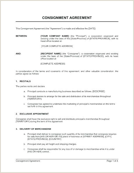 Simple Consignment Agreement Shipping Contract Template – Grupofive