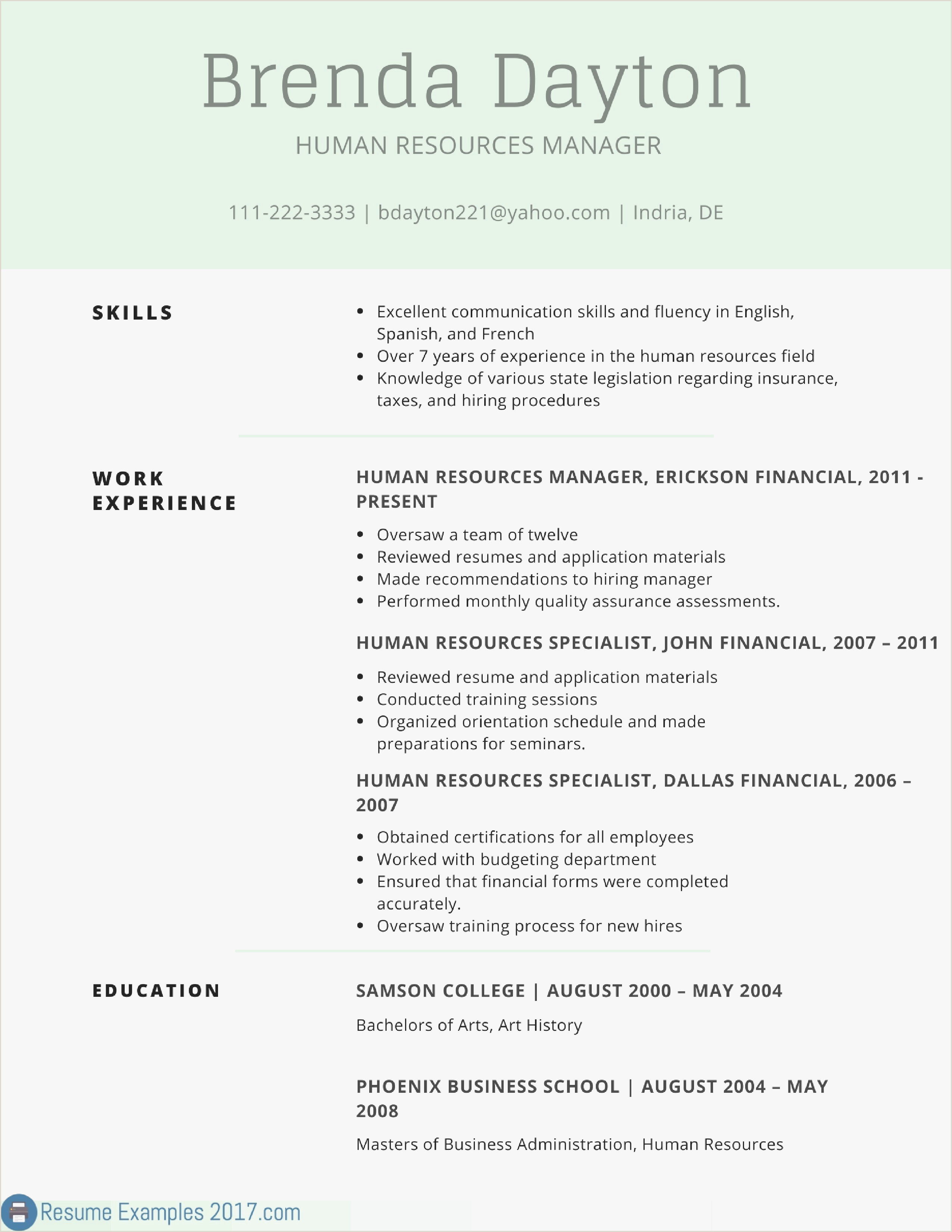 Simple Resume Template Best Resume and Cover Letter Examples