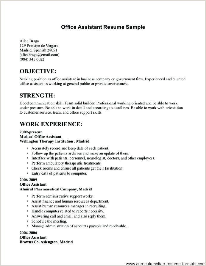 Simple Fresher Cv Format Good Resume Templates For Freshers – Hayatussahabah