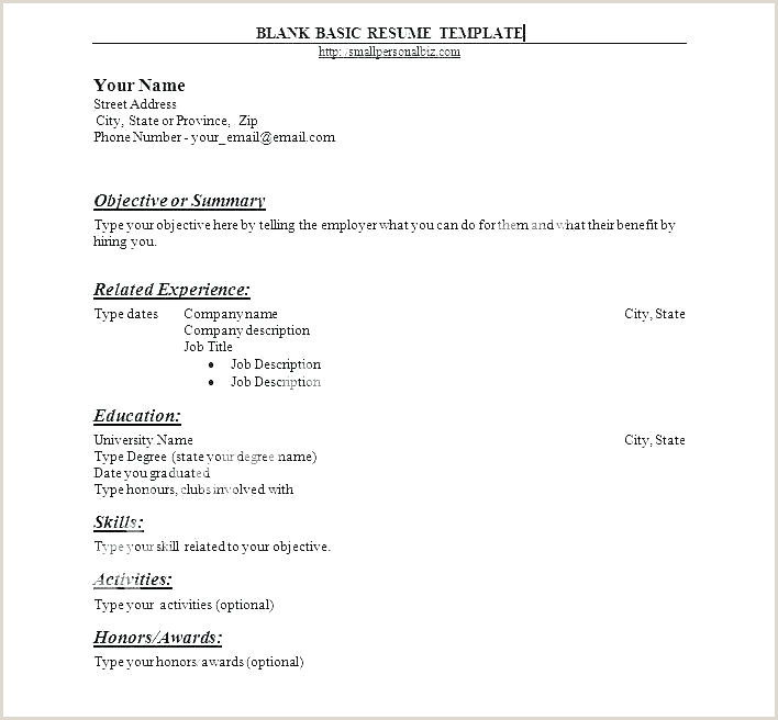 Simple Fresher Resume format Download In Ms Word Blank Resume format Download Unique Easy Samples – Kinocosmo
