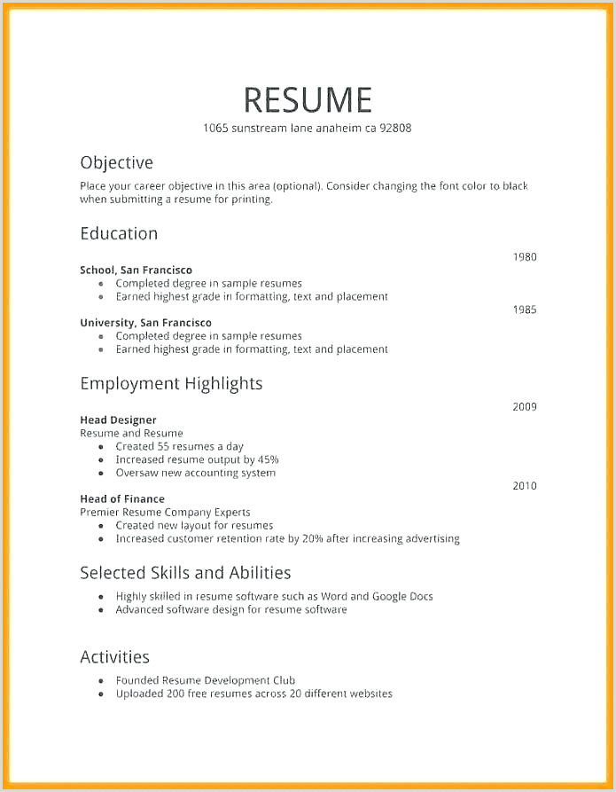 Simple Fresher Resume format Download In Ms Word Microsoft Word Resume Templates – Growthnotes