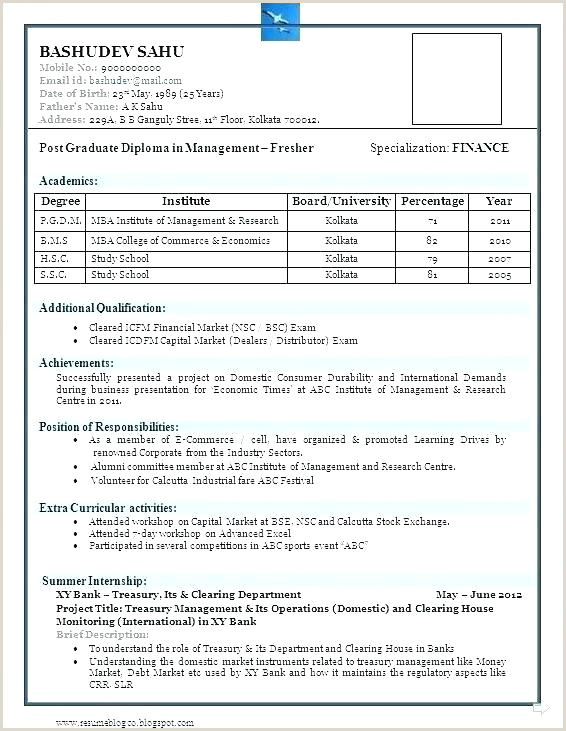 Simple Fresher Resume format Download In Ms Word Resume format In Word Download for Mca Freshers Free Ms