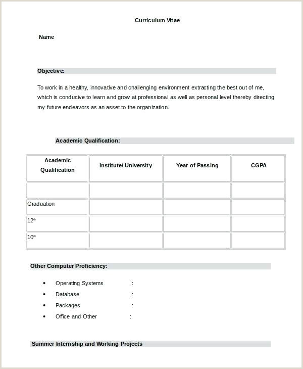 Simple Fresher Resume format Word Resume In Word format – Paknts