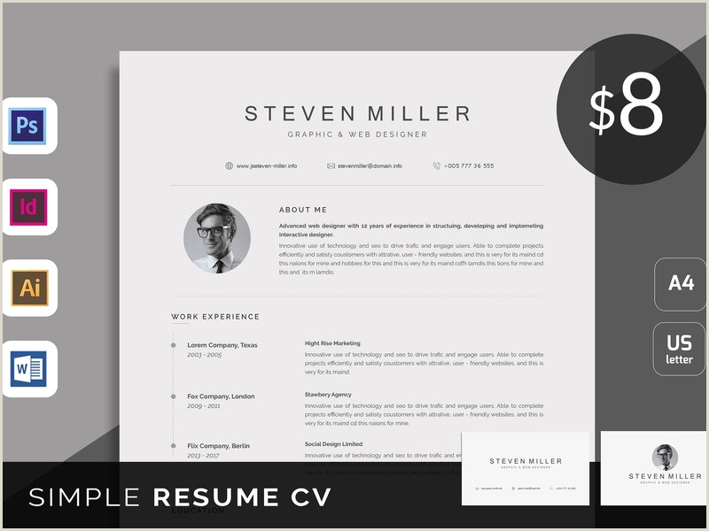Resume CV by Resume Templates on Dribbble