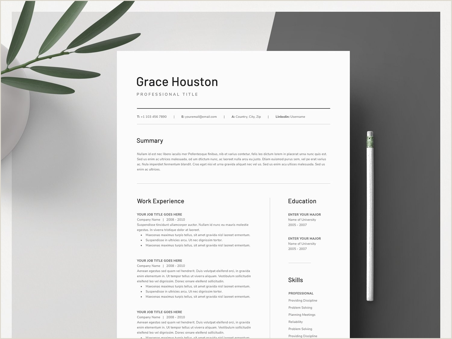 Word Resume & Cover Letter Template by Resume Templates on