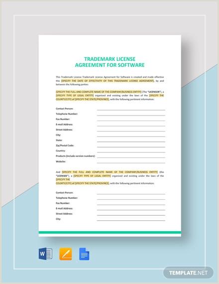 8 Trademark License Agreement Templates PDF