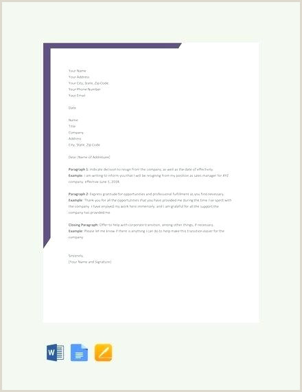 Simple Resignation Letter for Personal Reason Related for 6 Resign format In Word Resignation Letter