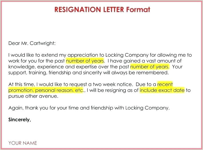 Simple Resignation Letter for Personal Reason Sample Resignation Letter Template Doc – Digitalhustle