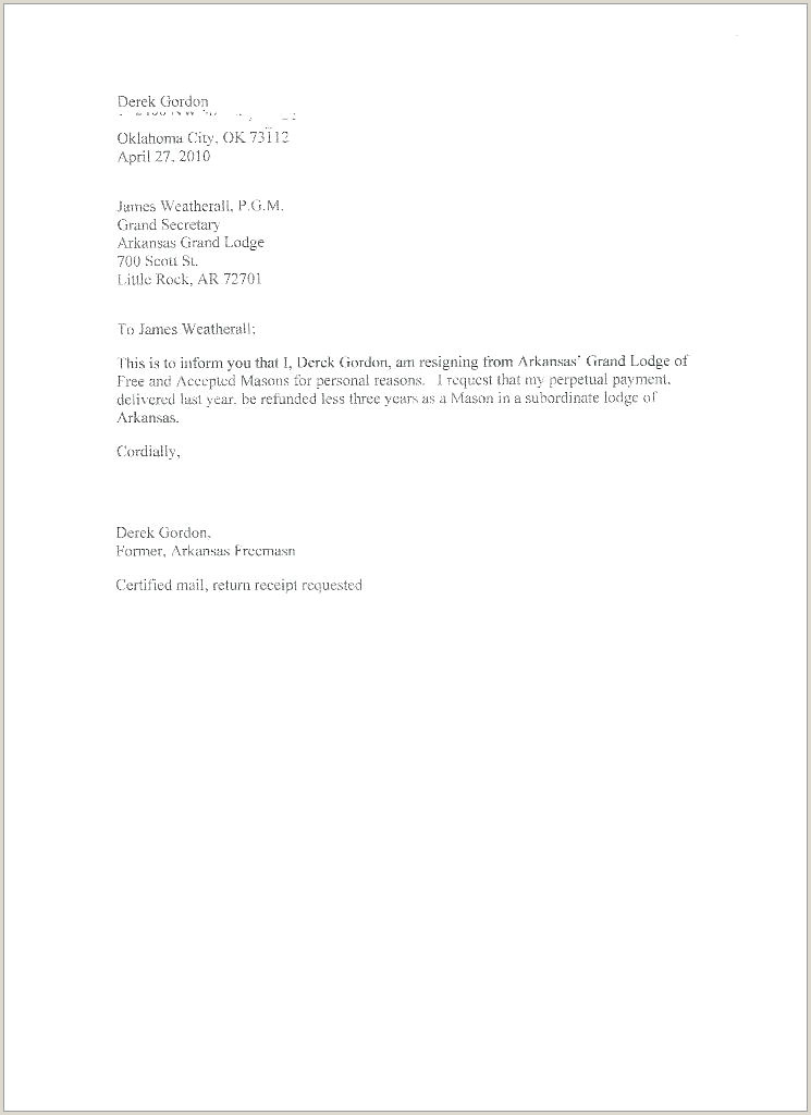 Two Week Resignation Letter Template Best Resign Sample
