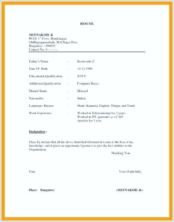 Simple Resume Format Download In Ms Word For Fresher Simple Resume Format For Mba Freshers