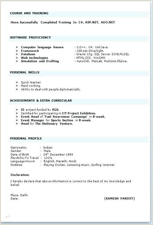 Simple Resume Format Download In Ms Word For Fresher Simple Resume Templates Free – Newskeyfo