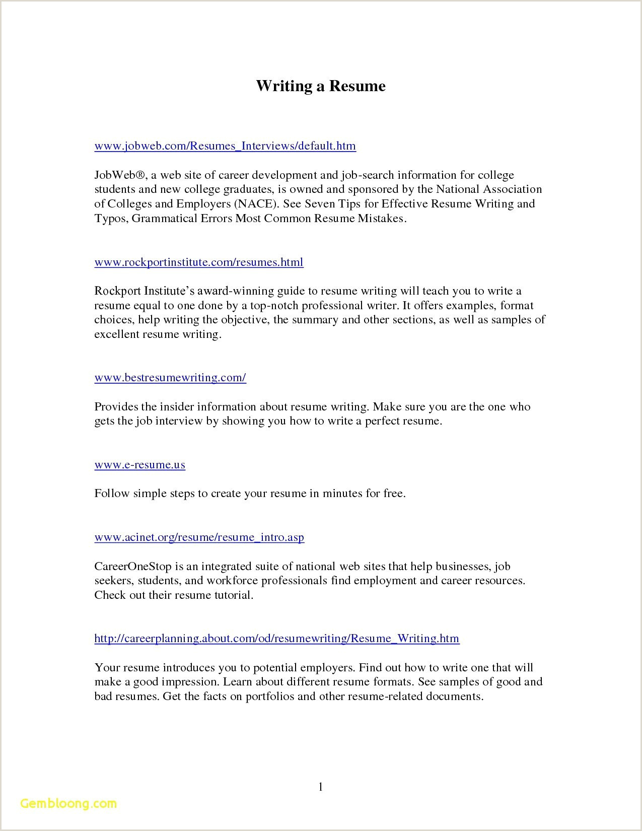 Simple Resume format for Job In Pdf 25 Examples Blank Resume format