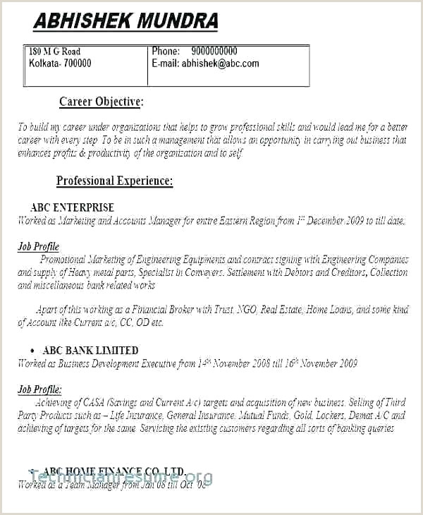 Simple Resume format for Job Interview Pdf 53 Beau Graphie De Cv En Anglais Pdf Gratuit