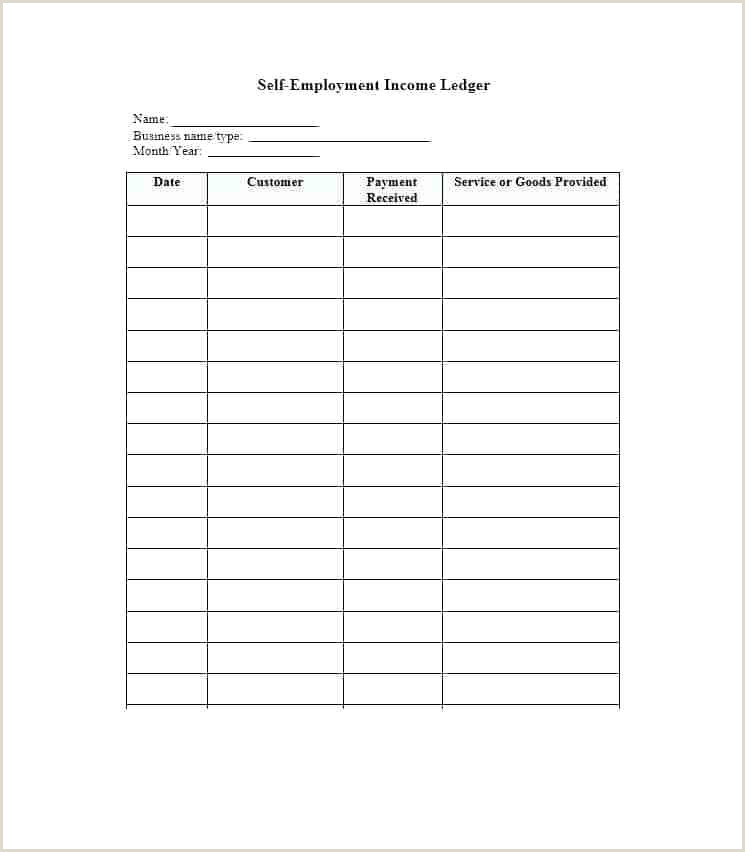 Simple Self Employment Ledger Weekly Ledger Template – Qoopon