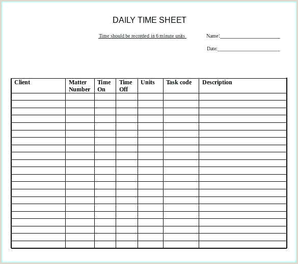 Easy Weekly Template Word With Daily Templates Free Sample