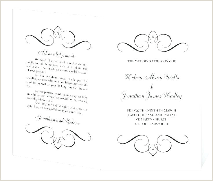 sample wedding ceremony program template