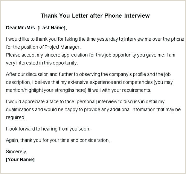 Sincere Thank You Letter Sample Thank You Letter after Interview for Sales Position