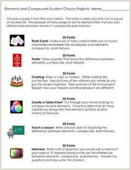 Elements pounds and Mixtures plete 5E Lesson Plan