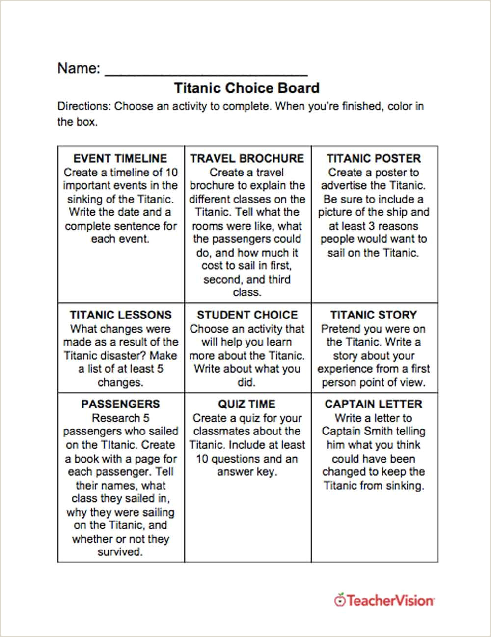 Single Point Lesson Template Graphic organizers for Teachers Grades K 12 Teachervision