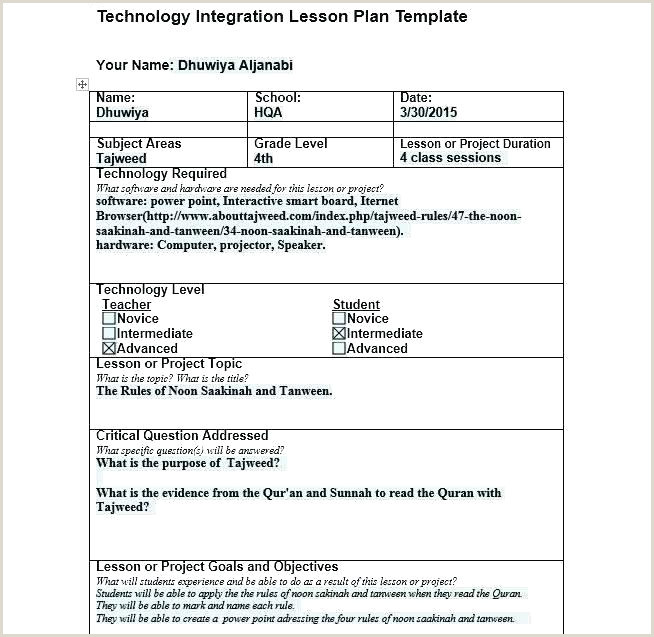 Siop Lesson Plan Examples Lesson Plan Layout Template