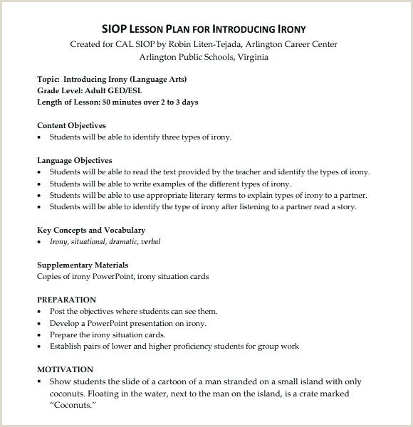 siop lesson plan template – naomijorge