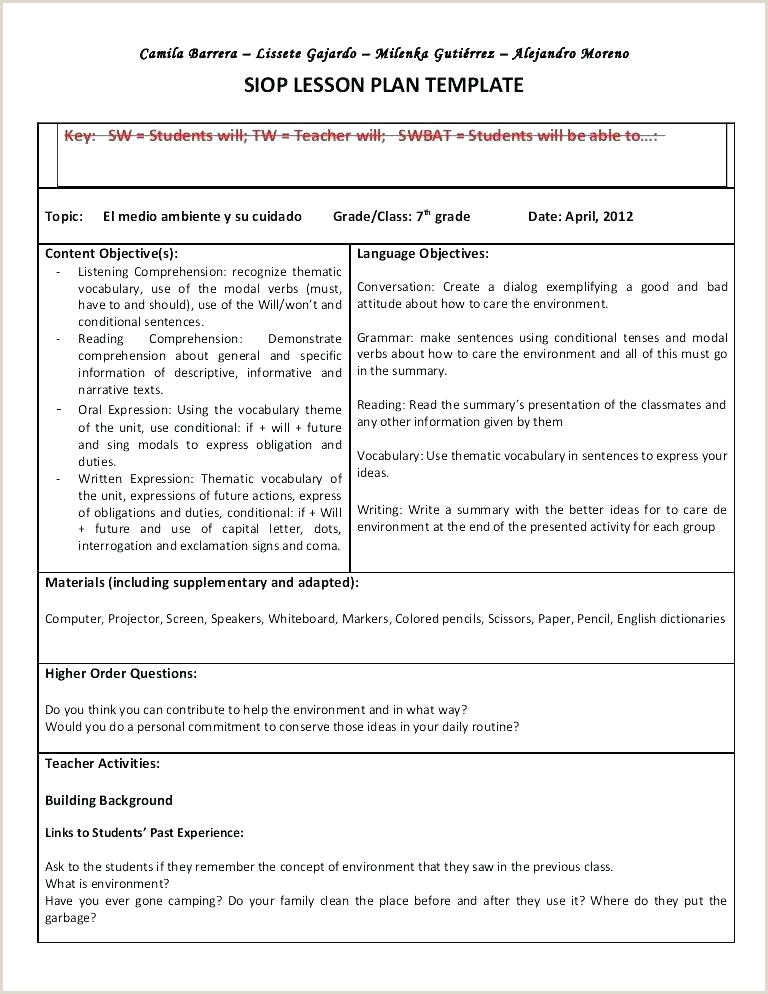Thematic Unit Lesson Plan Template Great Thematic Unit