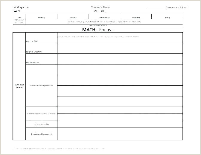 Lesson Plan Layout Template Edtpa Example Siop