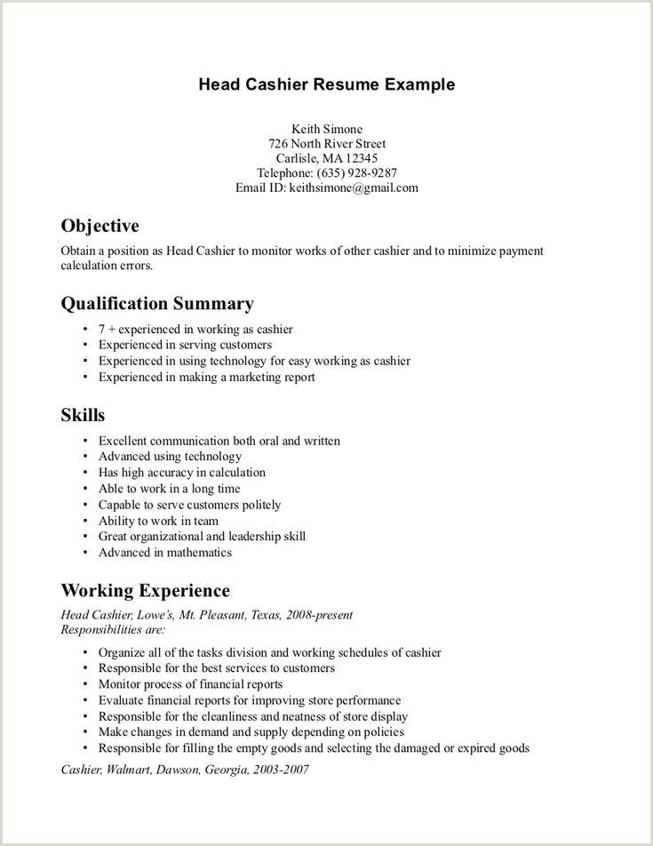 25 Examples Cashier Resume Objective